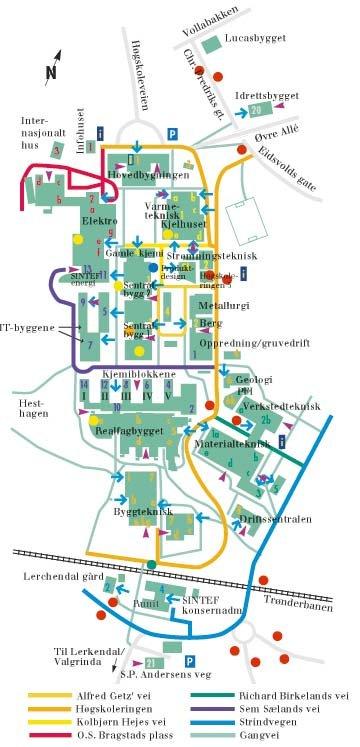kart ntnu NTNU   Institutt for Bygg, anlegg og transport