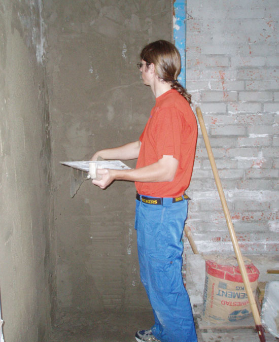 Pusse mur innvendig