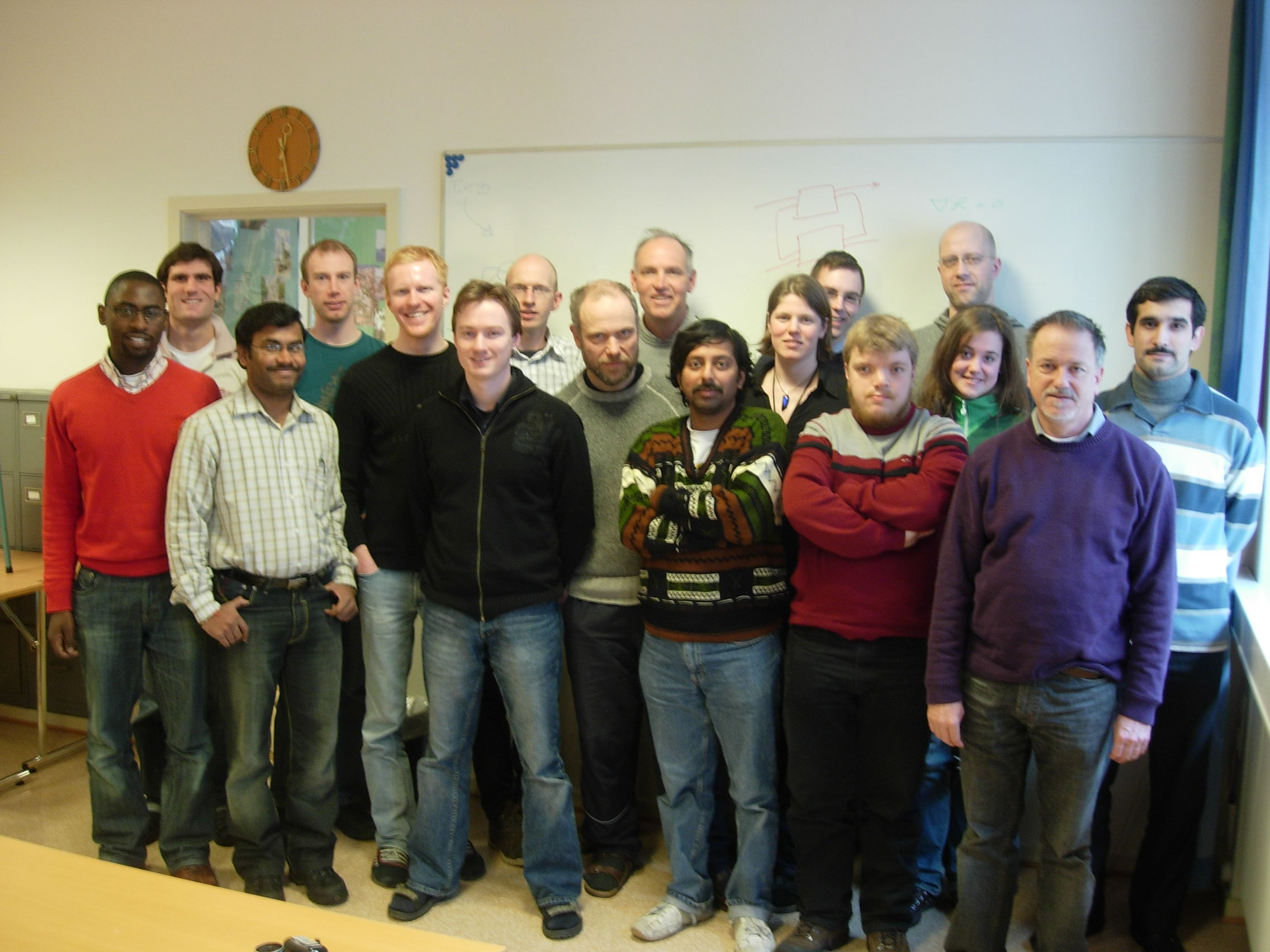[Process systems group picture February 2008: 	From left: Theo, Ivan, Ramprasad, Bj�rn Tore, Henrik, Johannes, Stefan, Tore, Sigurd, Sridhar, Elvira, Helge, Magnus, Olaf, Tone, Heinz, and Mehdi]