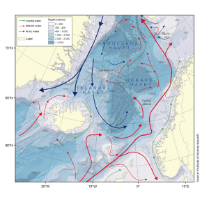 The Norwegian Sea, and the Nordic Seas. From Oug et al. 2010.